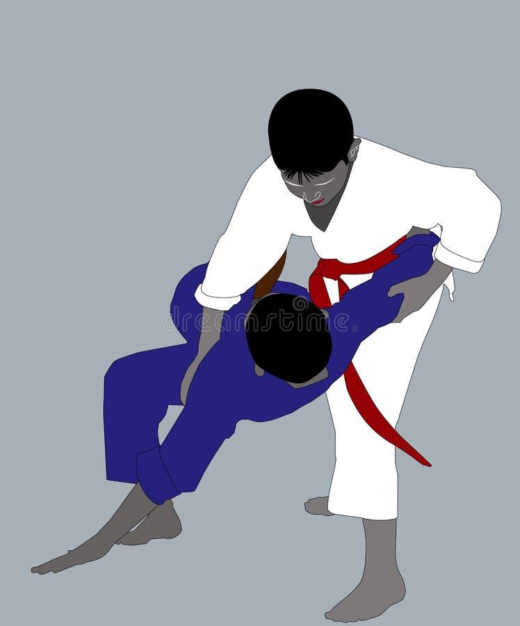 Due atleti in karategi differente royalty illustrazione gratis