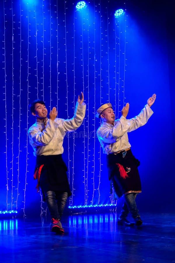 Due ballerini tibetani fotografie stock