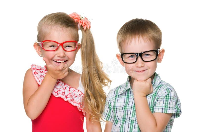Due bambini abili felici fotografie stock libere da diritti