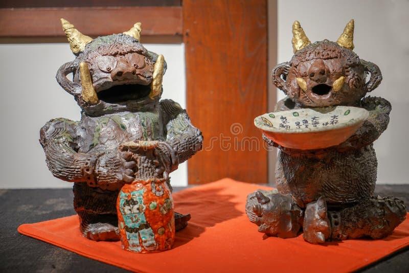 Due bambole giganti giapponesi immagine stock libera da diritti