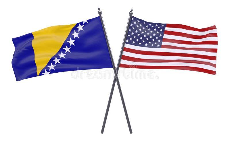 Due bandiere attraversate royalty illustrazione gratis