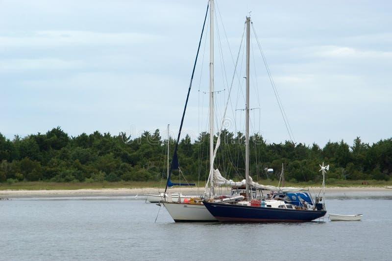 Due Barche A Vela, Vista Frontale Fotografia Stock Libera da Diritti