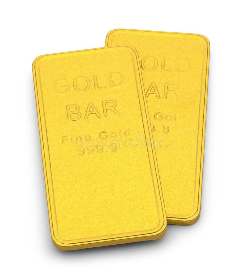 Due barre di oro immagini stock