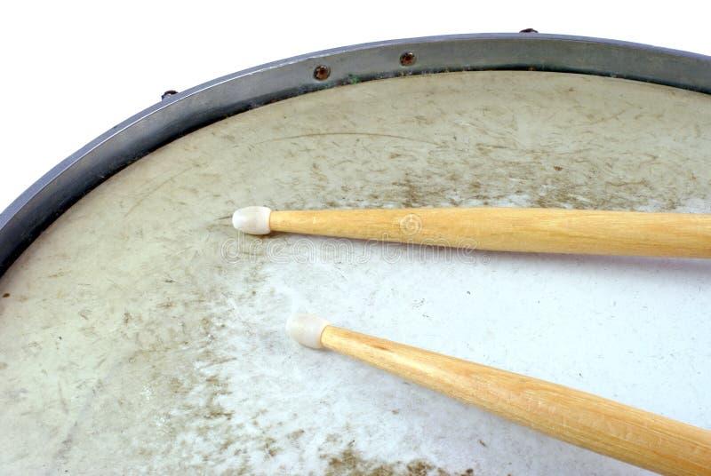 Due bastoni del tamburo fotografia stock libera da diritti