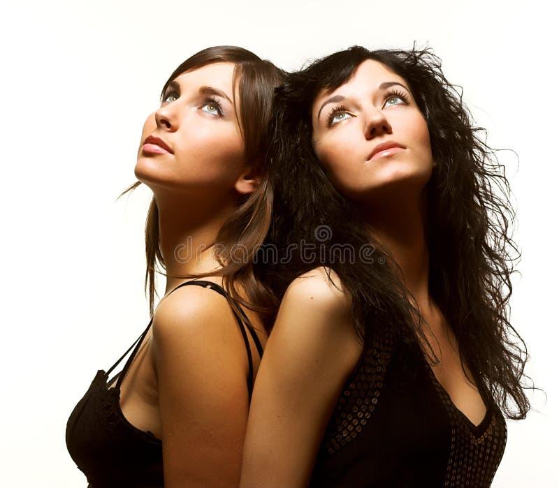 Due bei modelli immagini stock libere da diritti