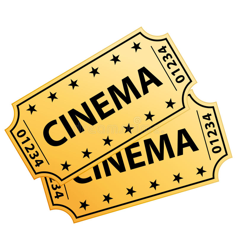 Due biglietti del cinematografo illustrazione di stock