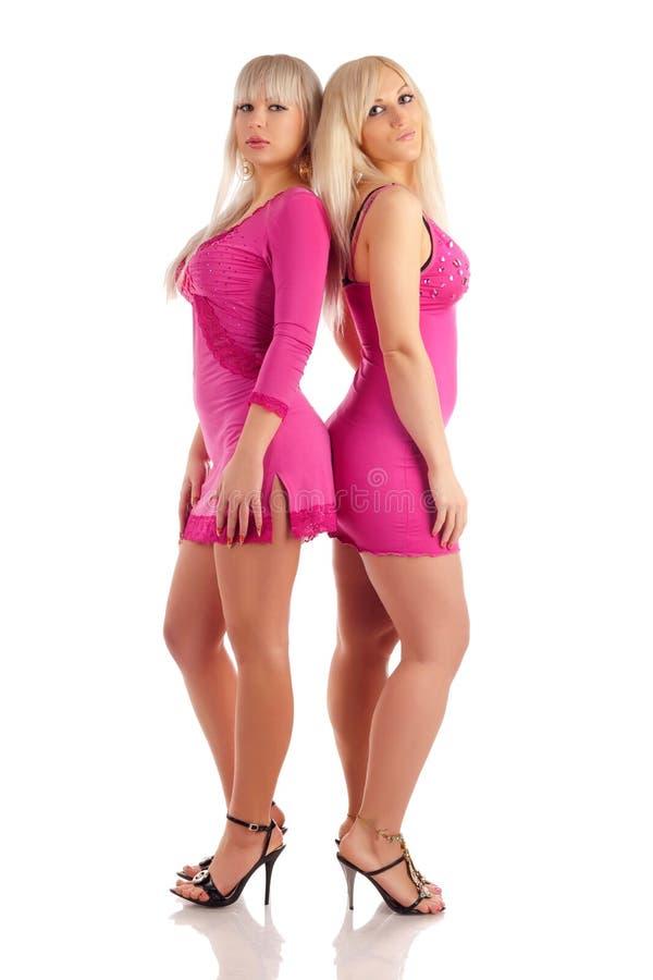 Due blondes di fascino fotografia stock