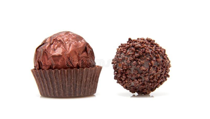 Due bonbon del cioccolato fotografie stock