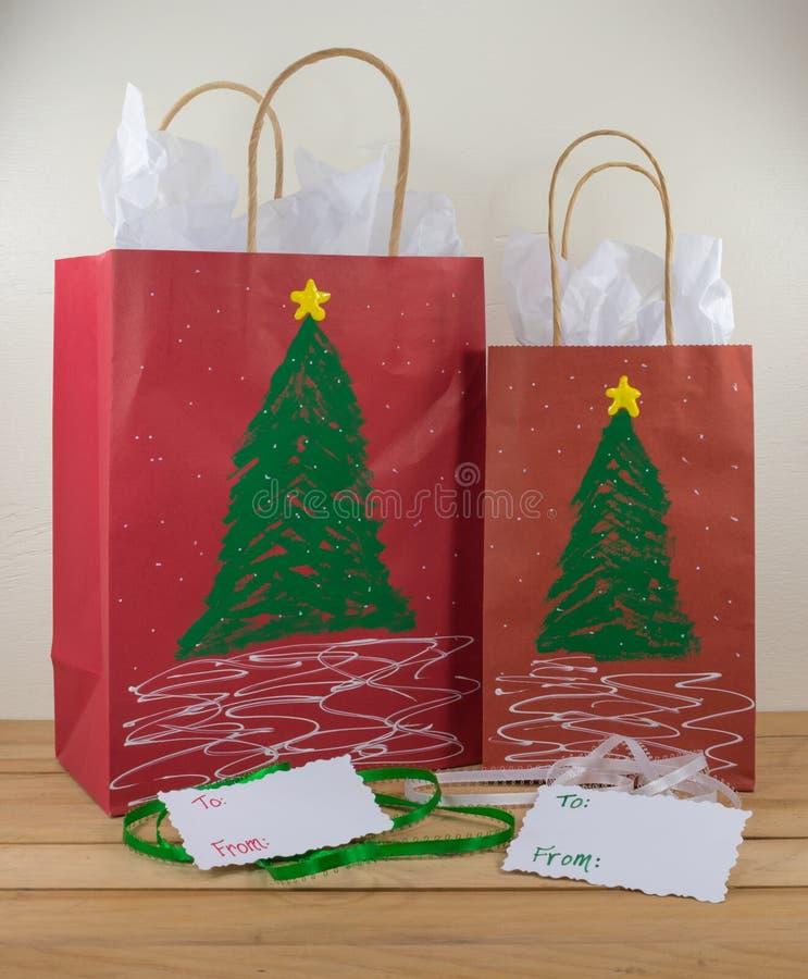 migliore collezione prezzo folle cerca ufficiale Due Borse Di Carta Del Regalo Decorate Per Il Natale ...