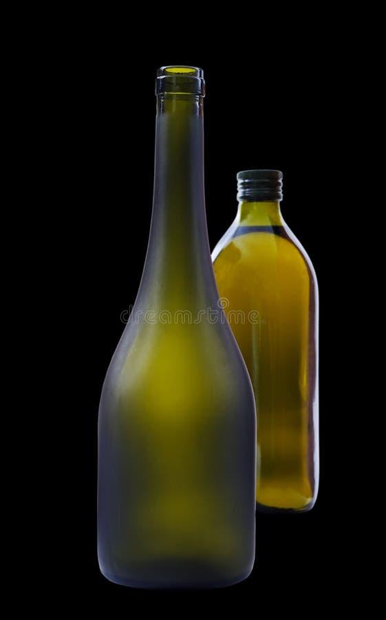 Due bottiglie. fotografia stock libera da diritti