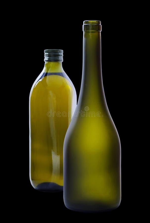 Due bottiglie. fotografia stock