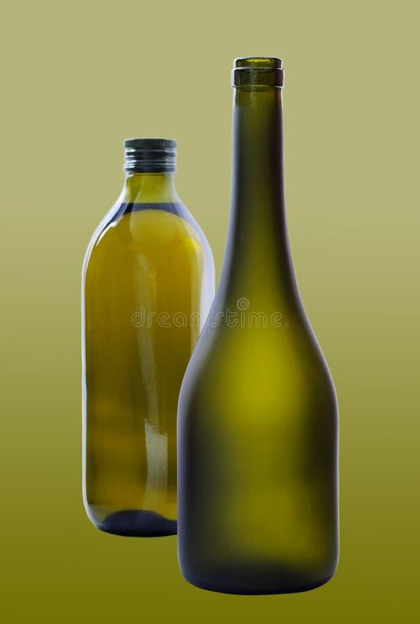 Due bottiglie. immagine stock libera da diritti