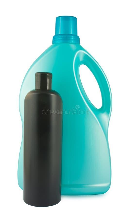 Due bottiglie di plastica fotografia stock