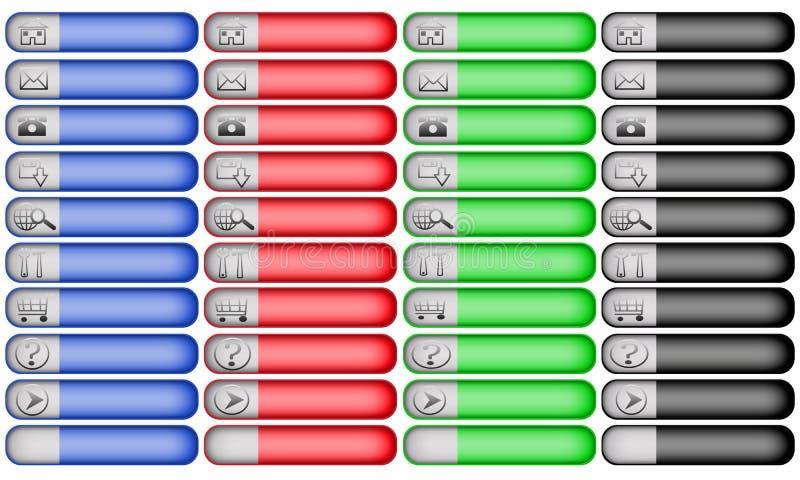 Due bottoni di Web page di percorso di affari di tono illustrazione vettoriale