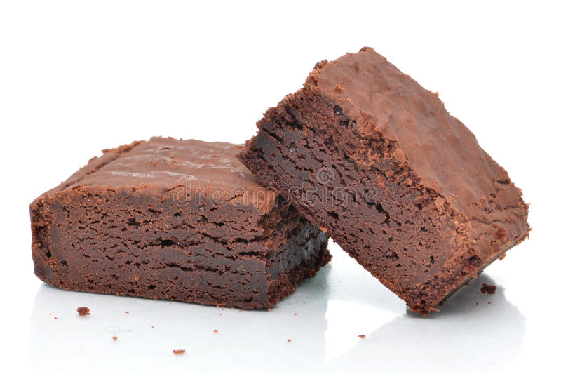 Due brownie immagini stock