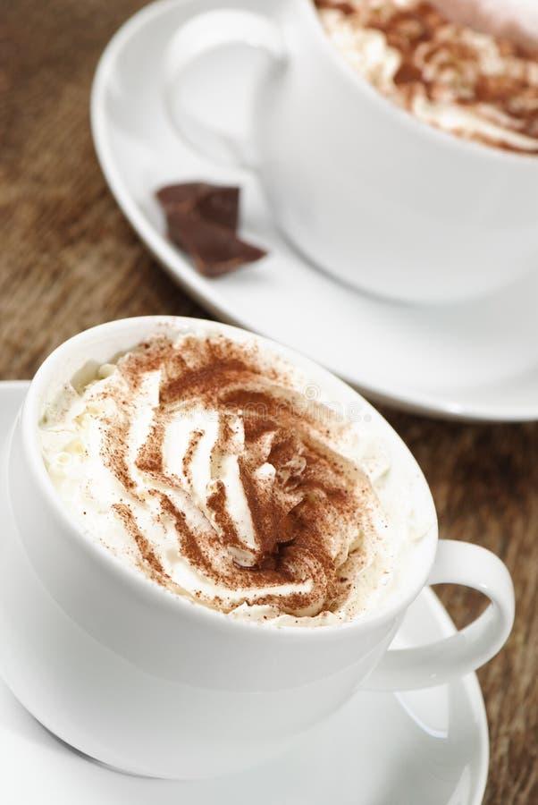 Due Cappuccinos fotografie stock