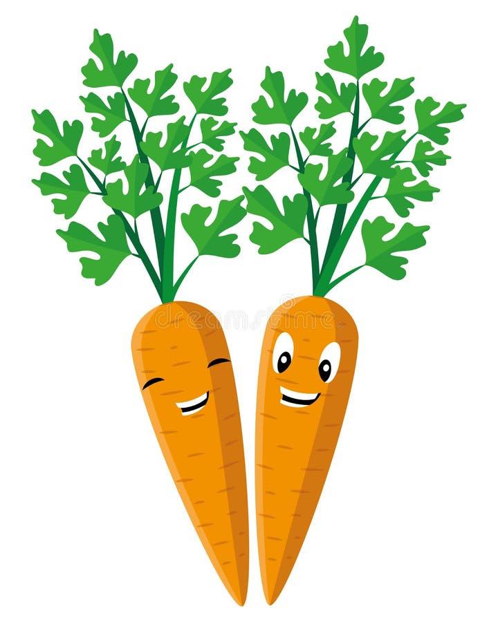 Due carote allegre royalty illustrazione gratis