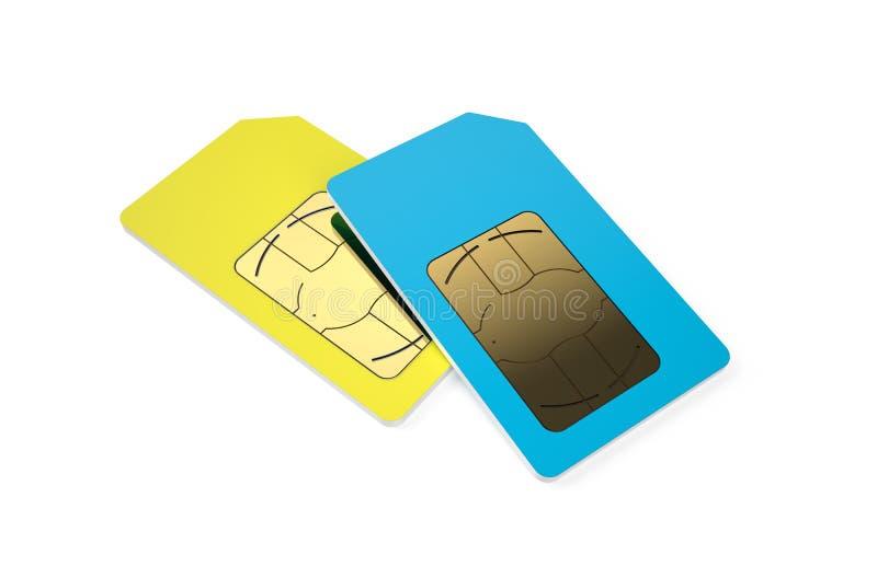 Due carte SIM 2 illustrazione vettoriale