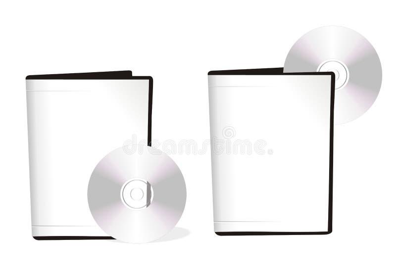 Due caselle con i dischi del dvd royalty illustrazione gratis