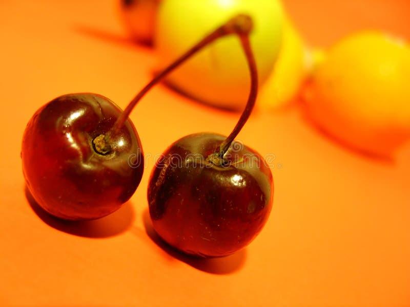 Due ciliege fotografia stock