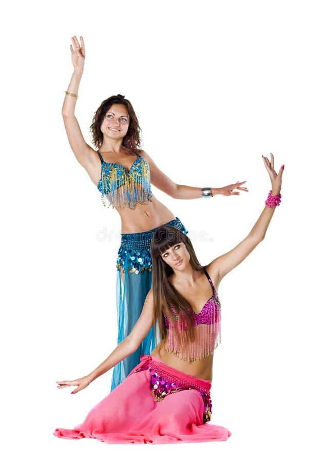 Due danzatori di pancia immagini stock