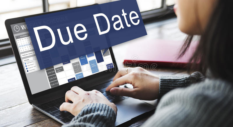 Due Date Appointment Deadline Time Anticipation Concept royalty free stock photo
