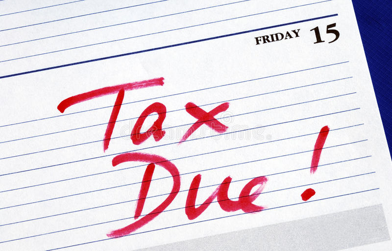 Download Due Date For The Income Tax Returns Stock Photo - Image: 12850368