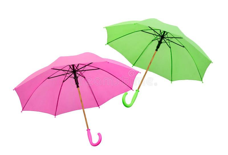 Due degli ombrelli isolati immagine stock libera da diritti