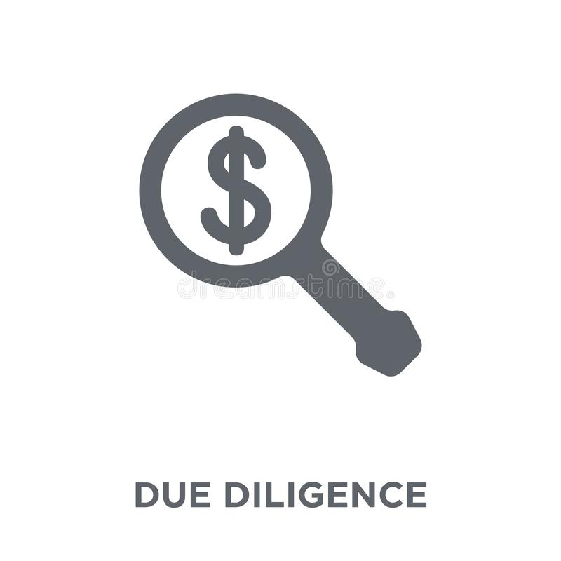 Due diligence icon from Time managemnet collection. Due diligence icon. Due diligence design concept from Time managemnet collection. Simple element vector royalty free illustration