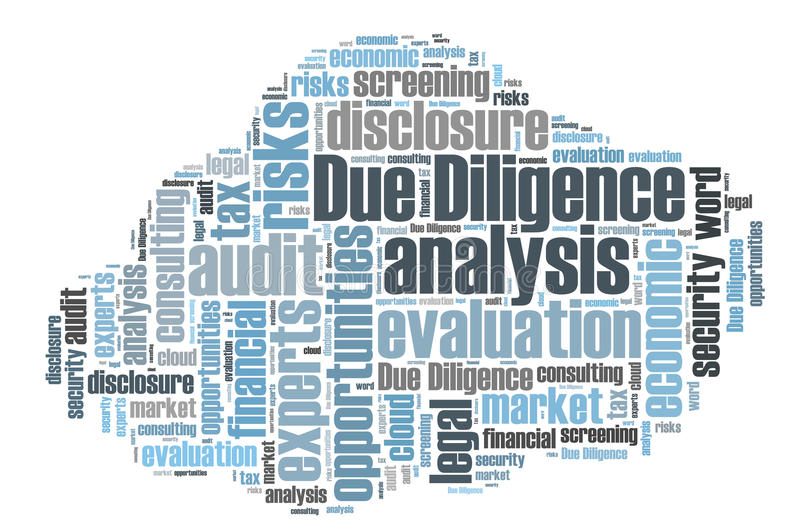 Due Diligence. Word cloud isoated vector illustration
