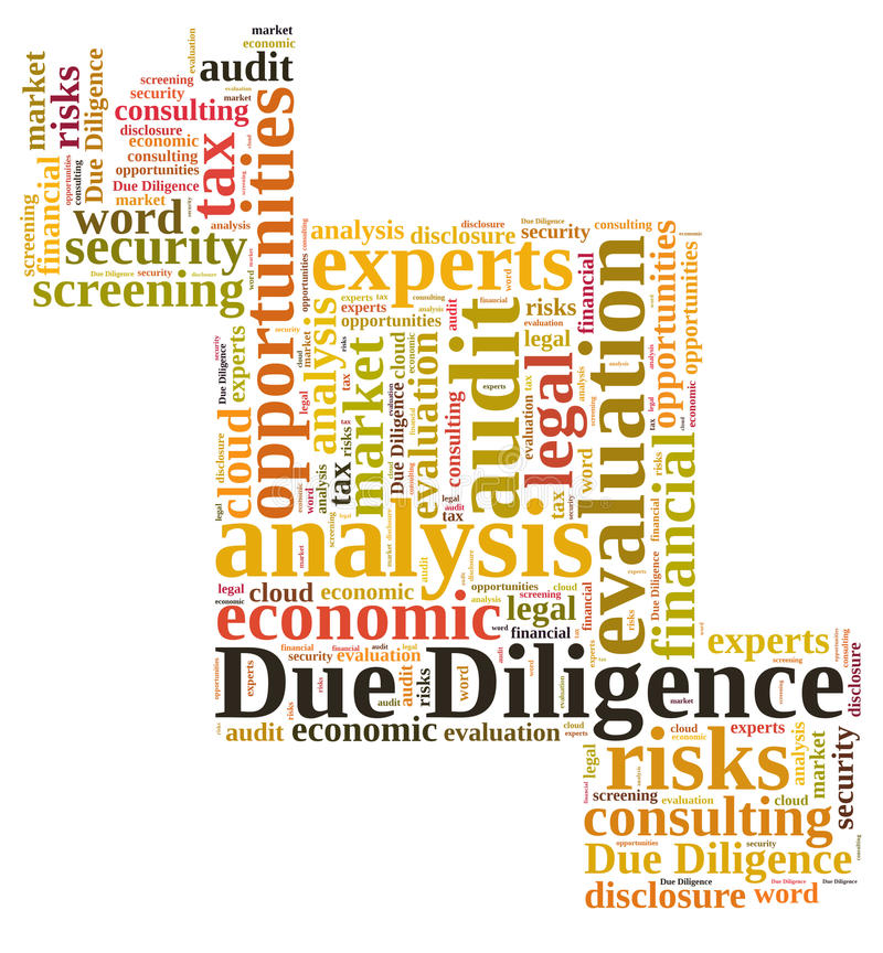 Due Diligence. Word cloud isolated vector illustration