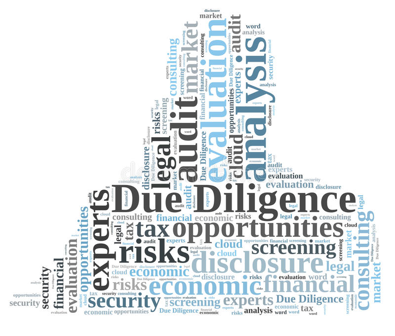 Due diligence. Word cloud shaped as a human body vector illustration