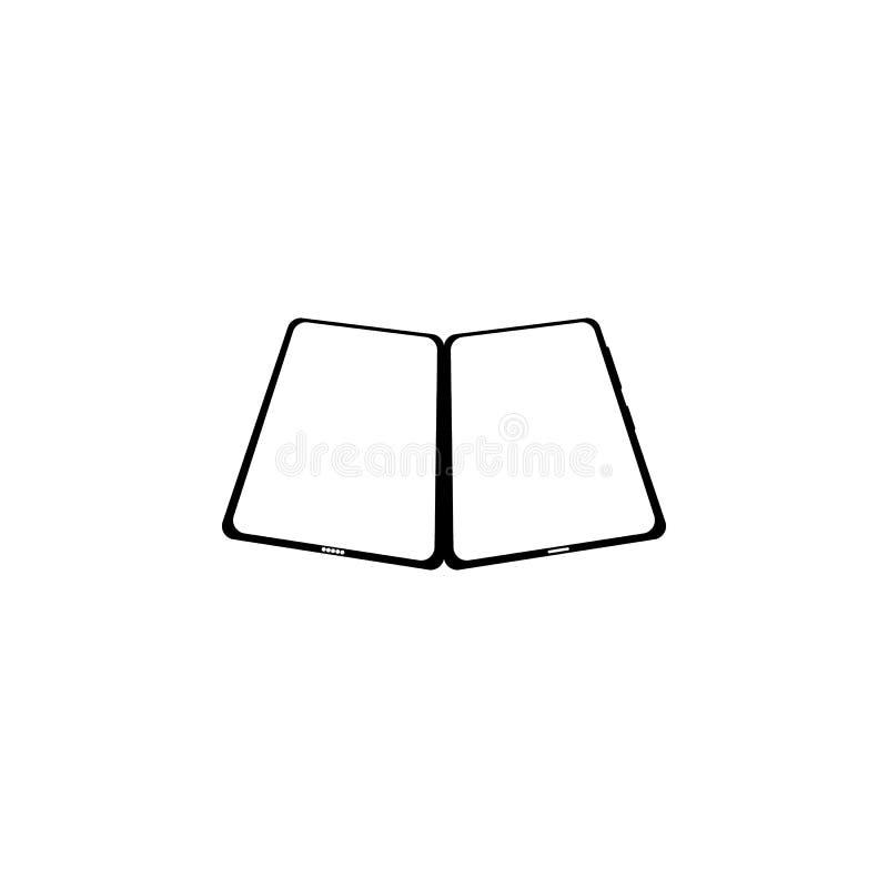 due dimensioni dello smartphone mobile bianco con lo schermo in bianco isolato parallelamente su fondo bianco, posizione ad angol illustrazione vettoriale