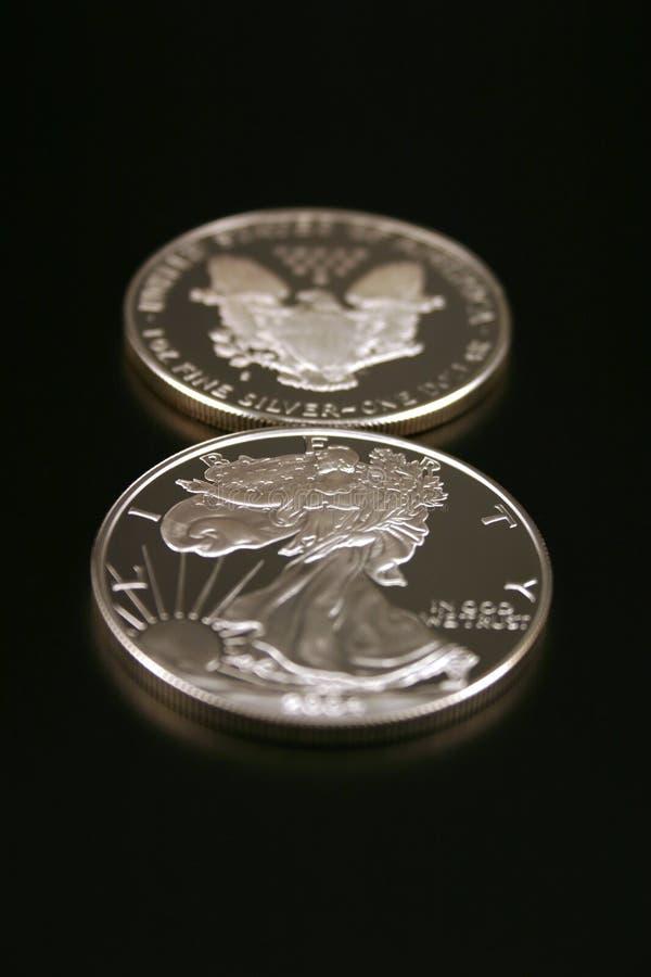 Due dollari d'argento fotografia stock libera da diritti