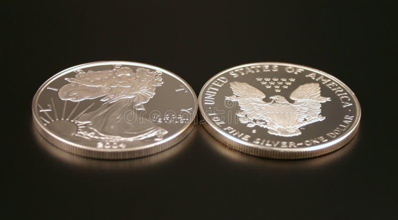 Due dollari d'argento fotografie stock libere da diritti