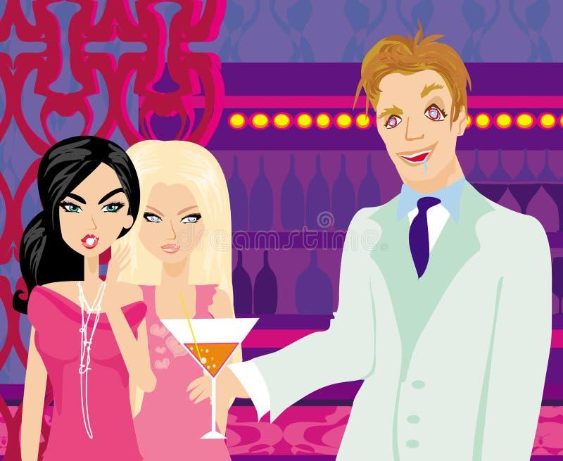 Due donne del gossip royalty illustrazione gratis