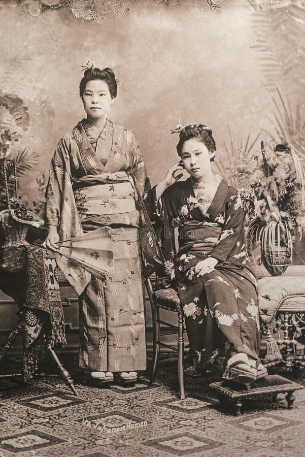 Due donne giapponesi fotografia stock
