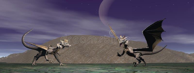 Due draghi illustrazione di stock