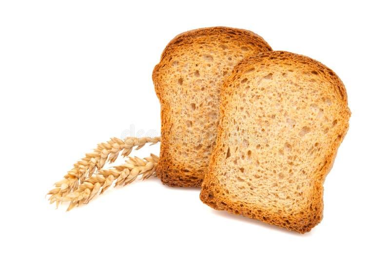 Due fette del pane tostato fotografia stock libera da diritti