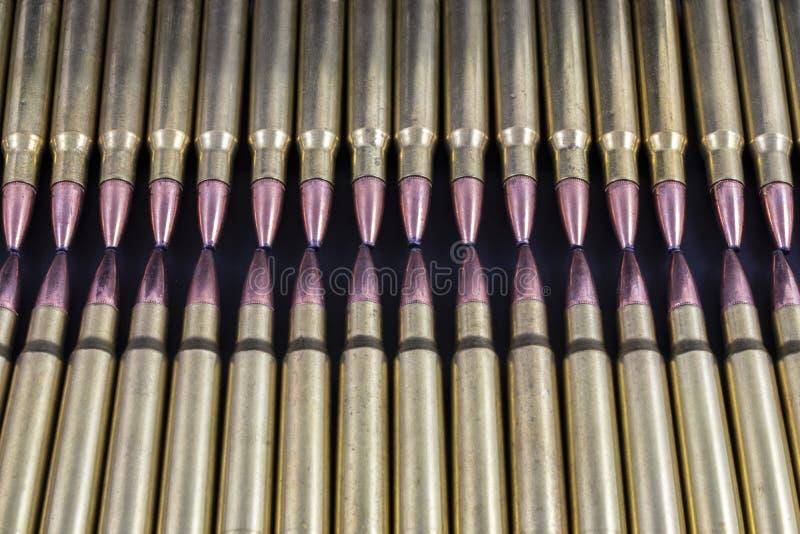 Due file di contatto delle pallottole fotografia stock libera da diritti
