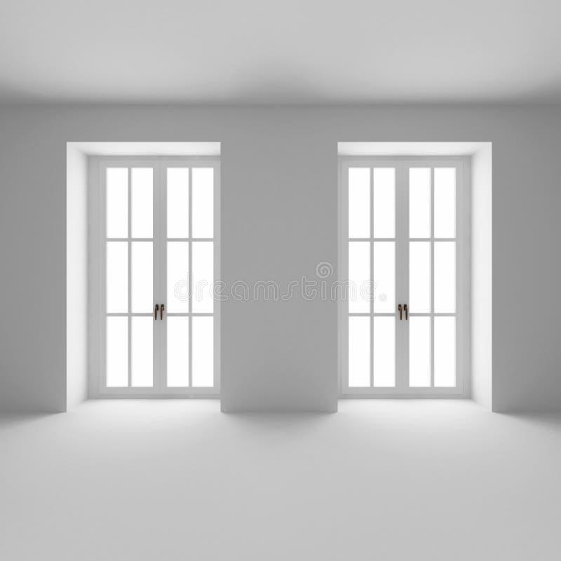 Due finestre francesi si sono chiuse immagini stock libere da diritti