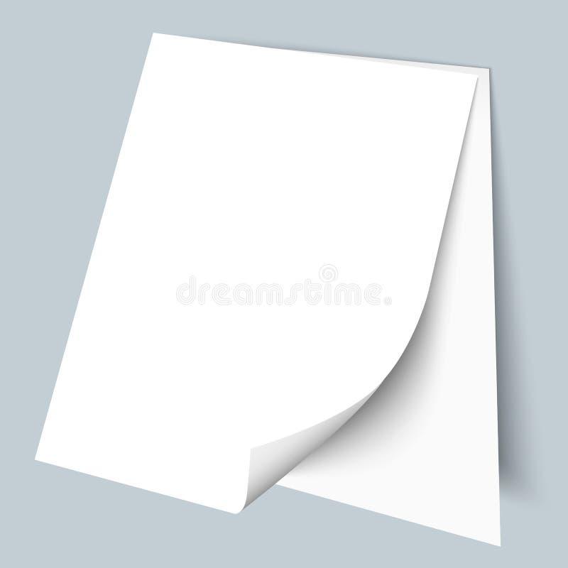 Due fogli bianchi di carta illustrazione di stock