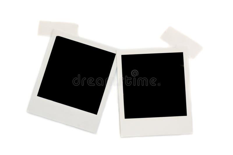 Due foto del polaroid fotografie stock