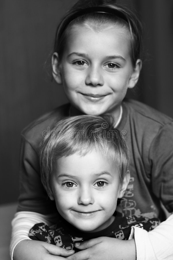 Due fratelli fotografia stock