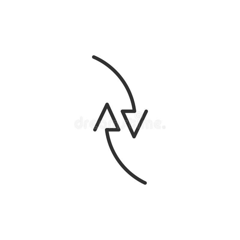 Due frecce nella direzione differente infographic, grafico, schema, diagramma Illustrazione di vettore isolata su bianco illustrazione di stock