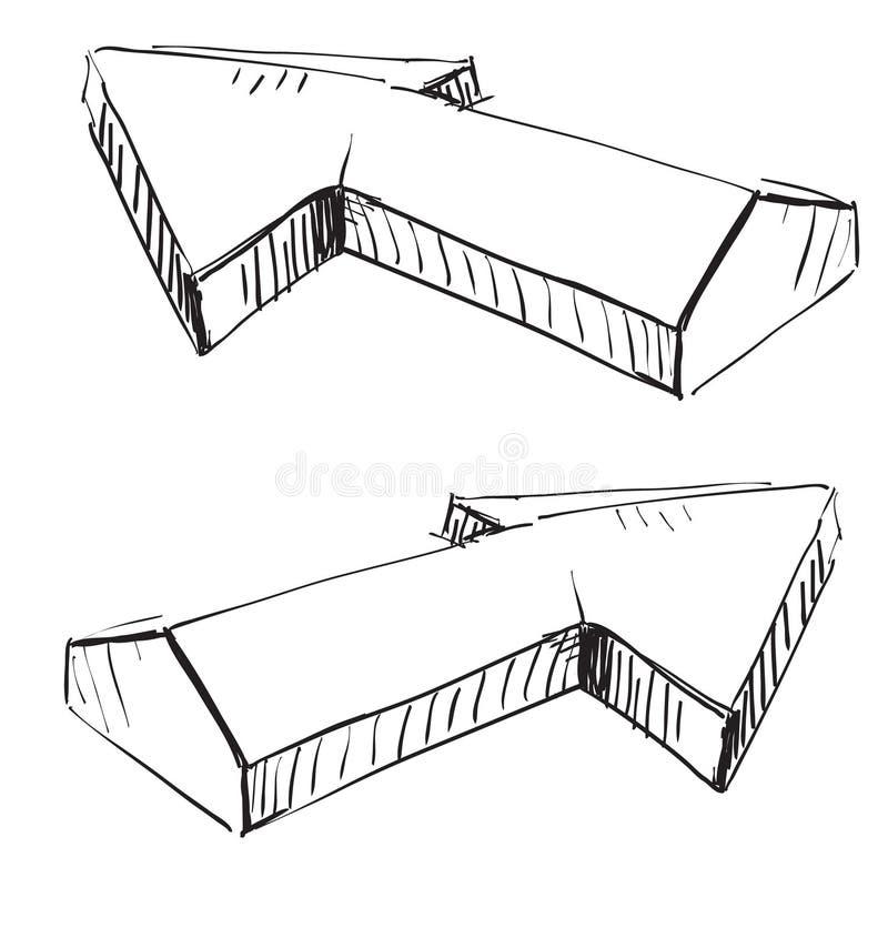 Due frecce tridimensionali illustrazione vettoriale for Immagini tridimensionali gratis