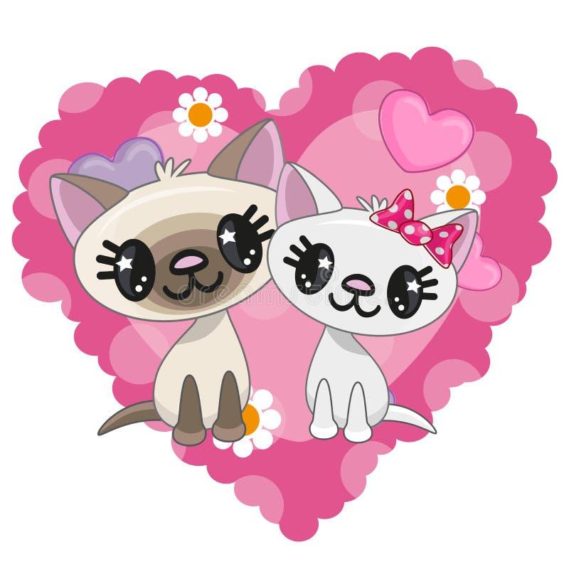 Due gatti illustrazione vettoriale