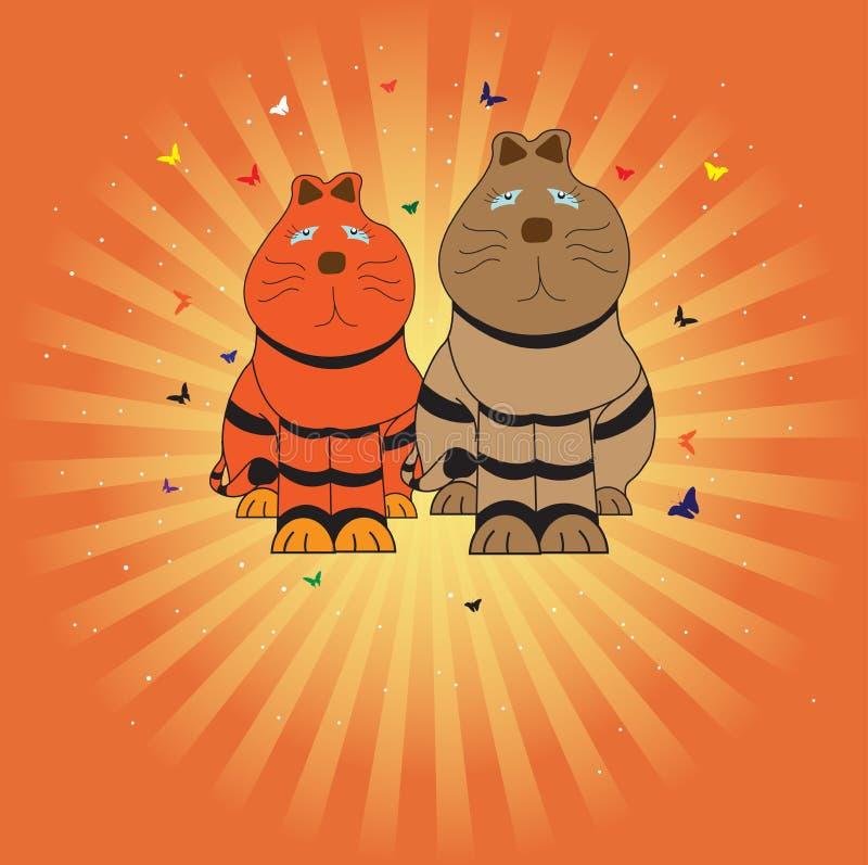 Due gatti royalty illustrazione gratis