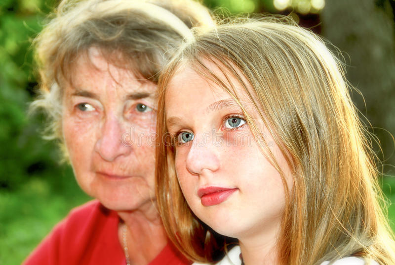 Due generazioni fotografia stock libera da diritti