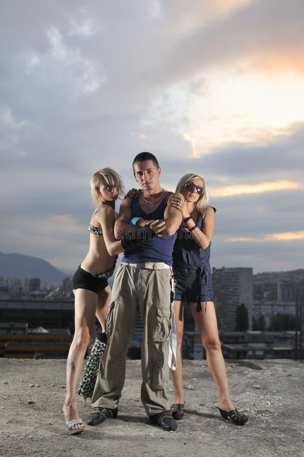 Due genti della squadra del gruppo dell'uomo della donna una fotografia stock libera da diritti